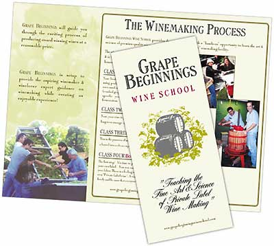 Grape Beginnings brochure