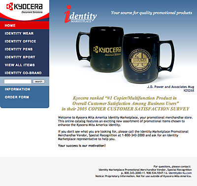 home page featuring J.D. Power and Associates mugs