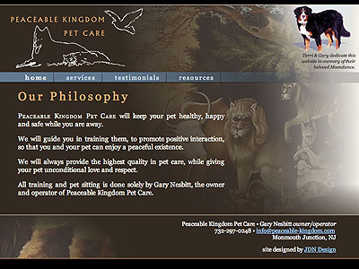 peaceable-kingdom.com home page