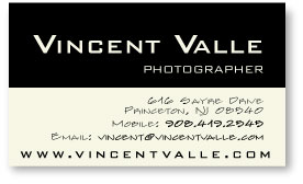 Vincent Valle business card
